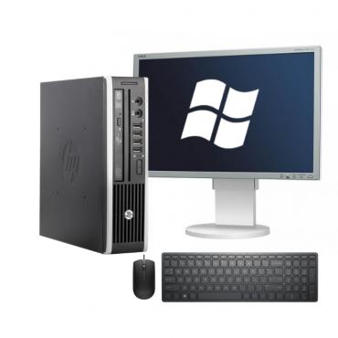 "HP Compaq Elite 8200USDT + DELL P190S 19"", A клас + мишка + клавиатура + Windows 10 Home"