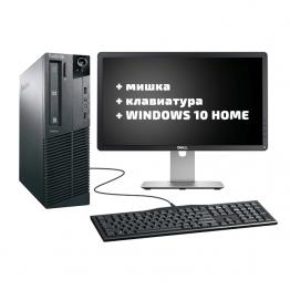"Lenovo ThinkCentre M83 + DELL P2014H A- клас 20"" + мишка + клавиатура + Windows 10 Home"