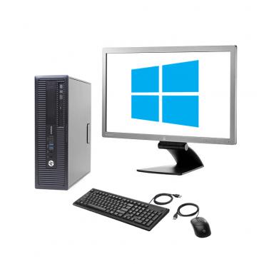 "HP EliteDesk 800 G1 SFF + HP EliteDisplay E271i 27"" + мишка + клавиатура + Windows 10 Home"