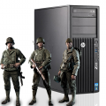 Геймърски компютър HP Workstation Z230 с процесор Intel Core i7, 4770 3400MHz 8MB, 8GB DDR3, 128GB SSD, GeForce GTX 1050 Ti 4GB