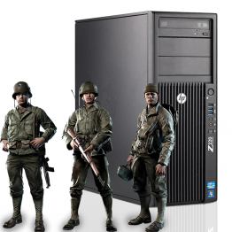 Геймърски компютър HP Workstation Z230 с процесор Intel Core i7, 4770 3400MHz 8MB, 8GB DDR3, 128GB SSD, GeForce GTX 1050 Ti 4GB