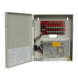 Захранващ блок 12VDC 10A, 9 индивидуални изхода