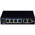 Неуправляем PoE switch за видеонаблюдение 4 PoE порт