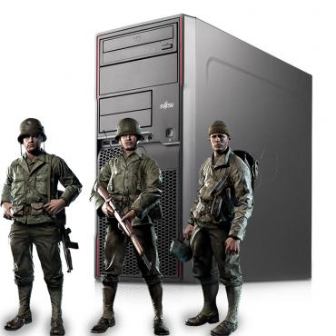Геймърски компютър Fujitsu Celsius W420 с процесор Intel Core i7 3770 3400Mhz 8MB, 8192MB DDR3, 180GB SSD + 500GB HDD, nVidia GTX1050Ti StormX 4096MB