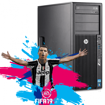 Геймърски компютър HP Workstation Z220 с процесор Intel Core i7, 3770 3400Mhz 8MB, 8GB DDR3, 256GB SSD + 500GB HDD, GeForce GTX 1060 6GB