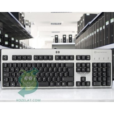 Клавиатура HP KUS0133, SmartCard CCID US Int. Keyboard,Silver/Black