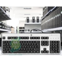 Клавиатура HP KUS0133, SmartCard CCID German Keyboard,Silver/Black