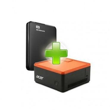 Мини компютър Acer Mini Revo AM1-601 в пакет с външен диск 1TB WD Elements USB 3.0