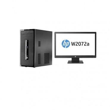 """Настолен компютър HP ProDesk 400 G2 в пакет с Monitor W2072a 20"""" Wide"""