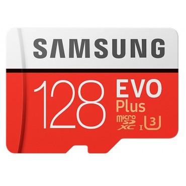 Флаш памети Samsung 128GB micro SD Card EVO+ with Adapter