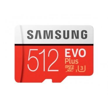 Флаш памети Samsung 512GB micro SD Card EVO+ with Adapter