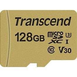 Флаш памети Transcend 128GB microSD UHS-I U3 (with adapter)