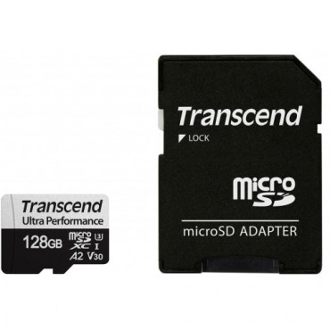 Флаш памети Transcend 128GB microSD w/ adapter UHS-I U3 A2 Ultra Performance