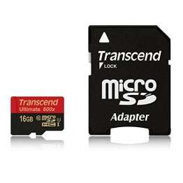 Флаш памети Transcend 16GB micro SDHC UHS-I Ultimate (with adapter