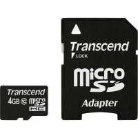 Флаш памети Transcend 4GB microSDHC CARD (Class10)