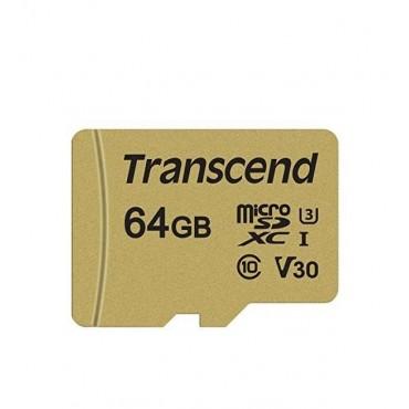 Флаш памети Transcend 64GB microSD UHS-I U3 (with adapter)