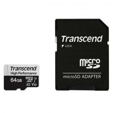Флаш памети Transcend 64GB microSD with adapter UHS-I U3 A2