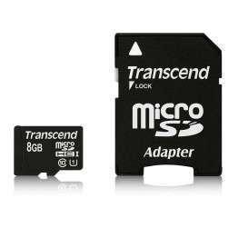 Флаш памети Transcend 8GB micro SDHC UHS-I Premium (with adapter