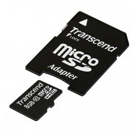 Флаш памети Transcend 8GB microSDHC (1 adapter - Class 10)