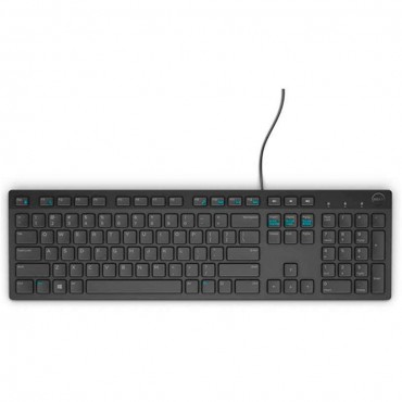 Клавиатура Dell KB216 Wired Multimedia Keyboard Bulgarian Black, Black
