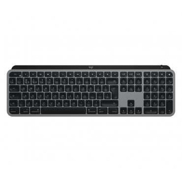 Клавиатура Logitech MX Keys for Mac Advanced Wireless Illuminated Keyboard - SPACE GREY - US INTL - 2.4GHZ/BT - N/A - EMEA