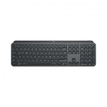 Клавиатура Logitech MX Keys Plus Advanced Wireless Illuminated Keyboard with Palm Rest - GRAPHITE - US INT'L - 2.4GHZ/BT - N/A - INTNL - WITH PALMREST