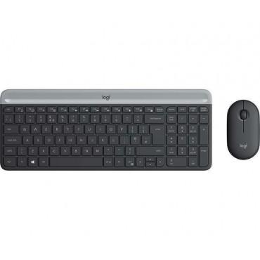 Клавиатура Logitech Slim Wireless Keyboard and Mouse Combo MK470 - GRAPHITE, Graphite
