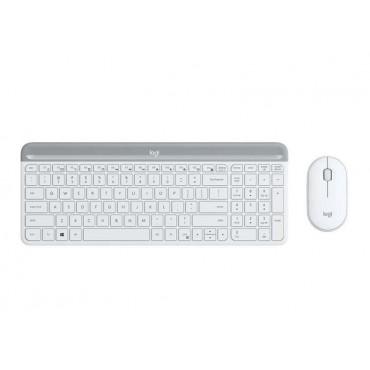 Клавиатура Logitech Slim Wireless Keyboard and Mouse Combo MK470 - OFFWHITE, White