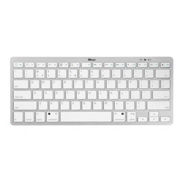 Клавиатура TRUST Nado Wireless Bluetooth Keyboard, White