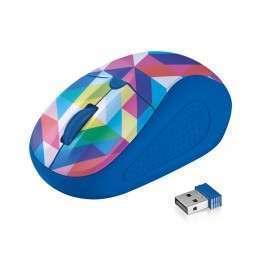 Мишка TRUST Primo Wireless Mouse - blue geometry