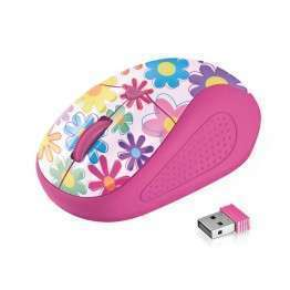 Мишка TRUST Primo Wireless Mouse - pink flowers