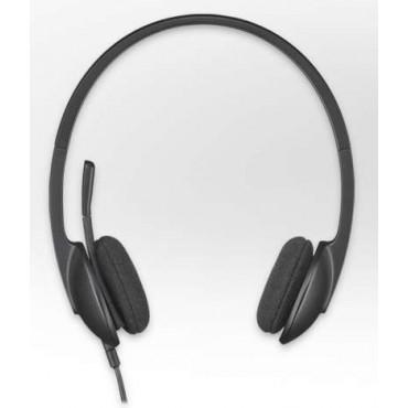 Слушалки Logitech USB Headset H340, Black