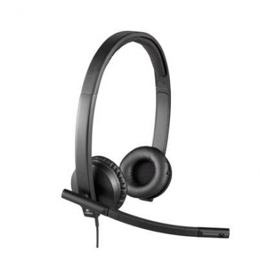 Слушалки Logitech USB Headset H570e Stereo - USB, Black