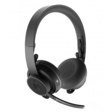 Слушалки Logitech Zone Wireless Bluetooth headset - GRAPHITE