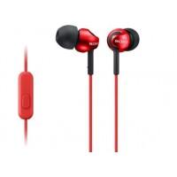 Слушалки Sony Headset MDR-EX110AP red, Red