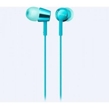 Слушалки Sony Headset MDR-EX155AP, Blue