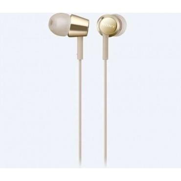 Слушалки Sony Headset MDR-EX155AP, Gold