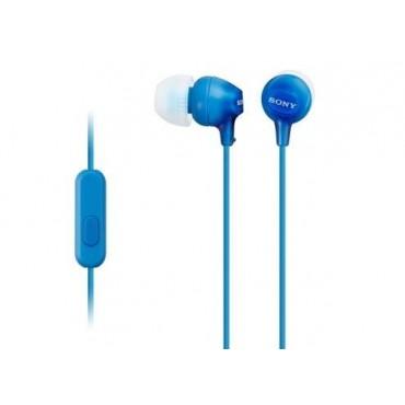 Слушалки Sony Headset MDR-EX15AP blue