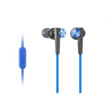 Слушалки Sony Headset MDR-XB50AP blue