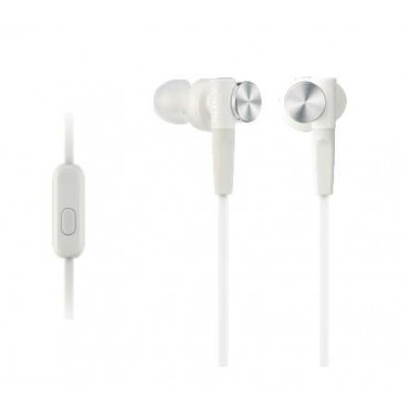 Слушалки Sony Headset MDR-XB50AP white