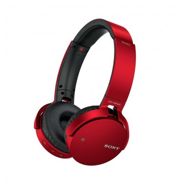 Слушалки Sony Headset MDR-XB650BT with Bluetooth and NFC, Red