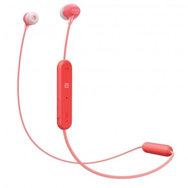 Слушалки Sony Headset WI-C300, Red