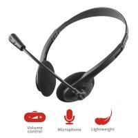 Слушалки TRUST Primo Headset, Black