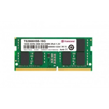 Transcend 16GB TS DDR4 2666Mhz SO-DIMM 2Rx8 1Gx8 CL19 1.2V