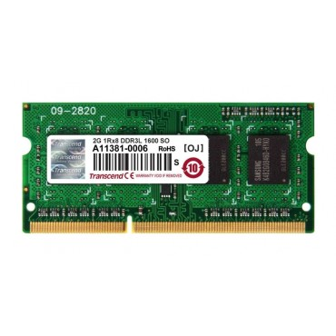 Transcend 2GB 204pin SODIMM DDR3L PC1600 CL11
