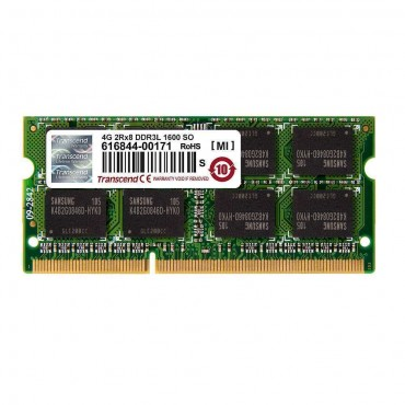 Transcend 4GB 204pin SO-DIMM DDR3L 1600 2Rx8 256Mx8 CL11 1.35V