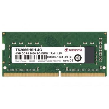 Transcend 4GB TS DDR4 2666Mhz SO-DIMM 1Rx8 512Mx8 CL19 1.2V