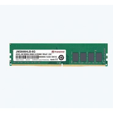 Transcend 8GB 288pin U-DIMM DDR4 2666 1Rx8 1Gx8 CL19 1.2V