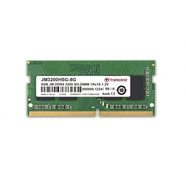 Transcend 8GB JM DDR4 3200 SO-DIMM 1Rx16 1Gx16 CL22 1.2V