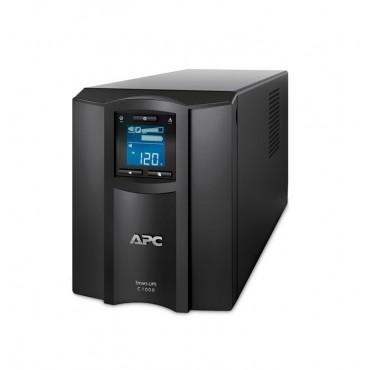 UPS APC Smart-UPS C 1000VA LCD 230V with SmartConnect + APC Essential SurgeArrest 5 Outlet 2 USB Ports Black 230V Germany